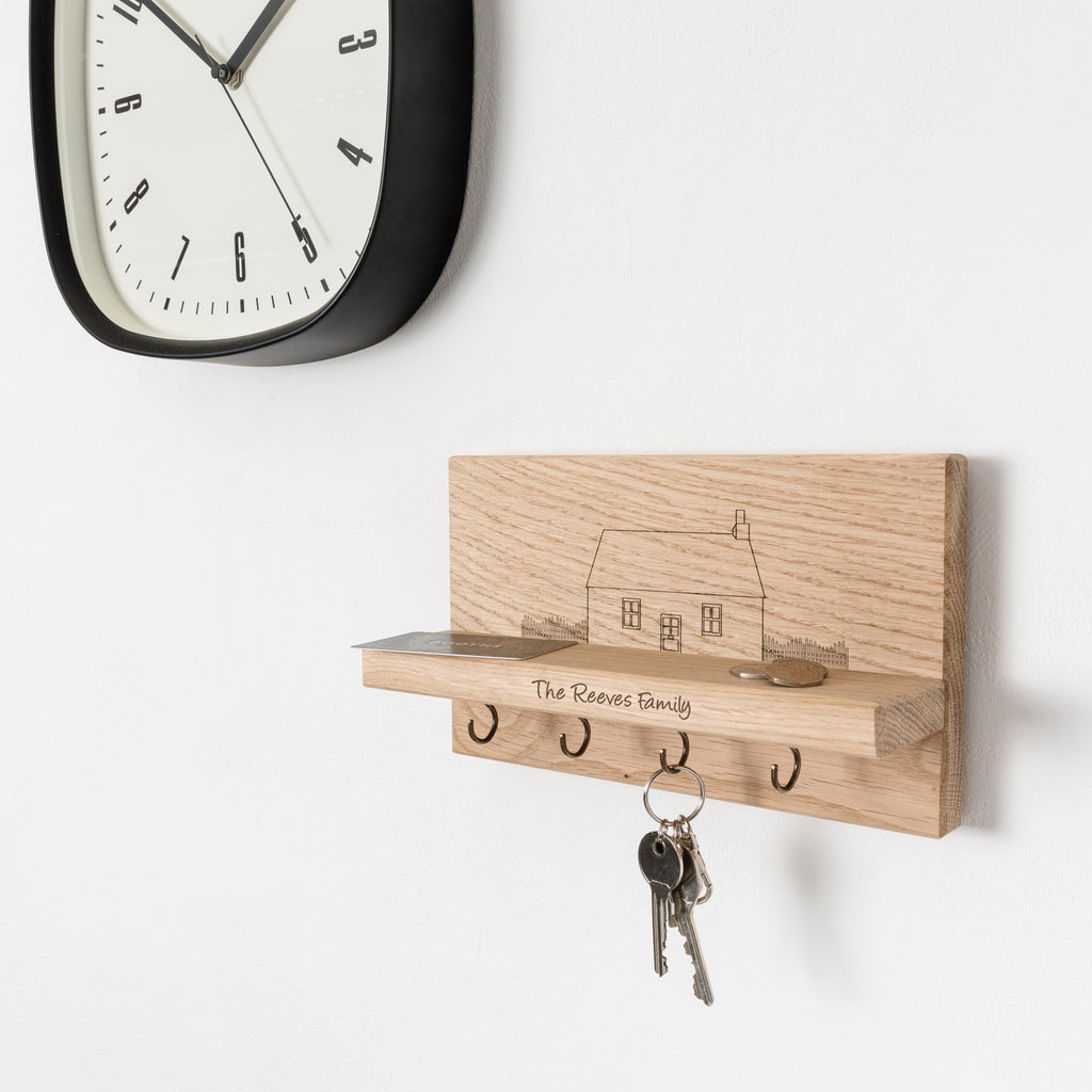 Personalised Cottage House Key Holder