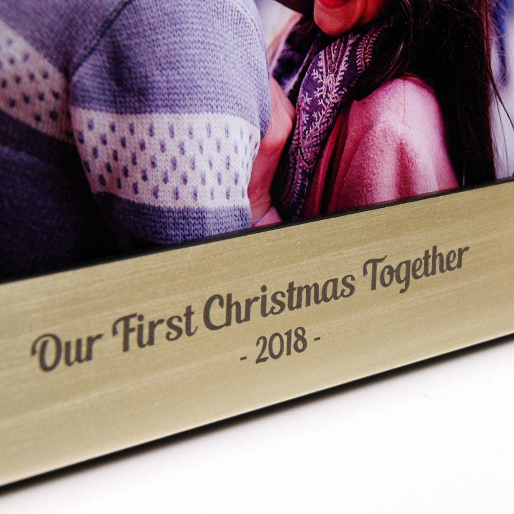 Personalised Couples Christmas Photo Frame
