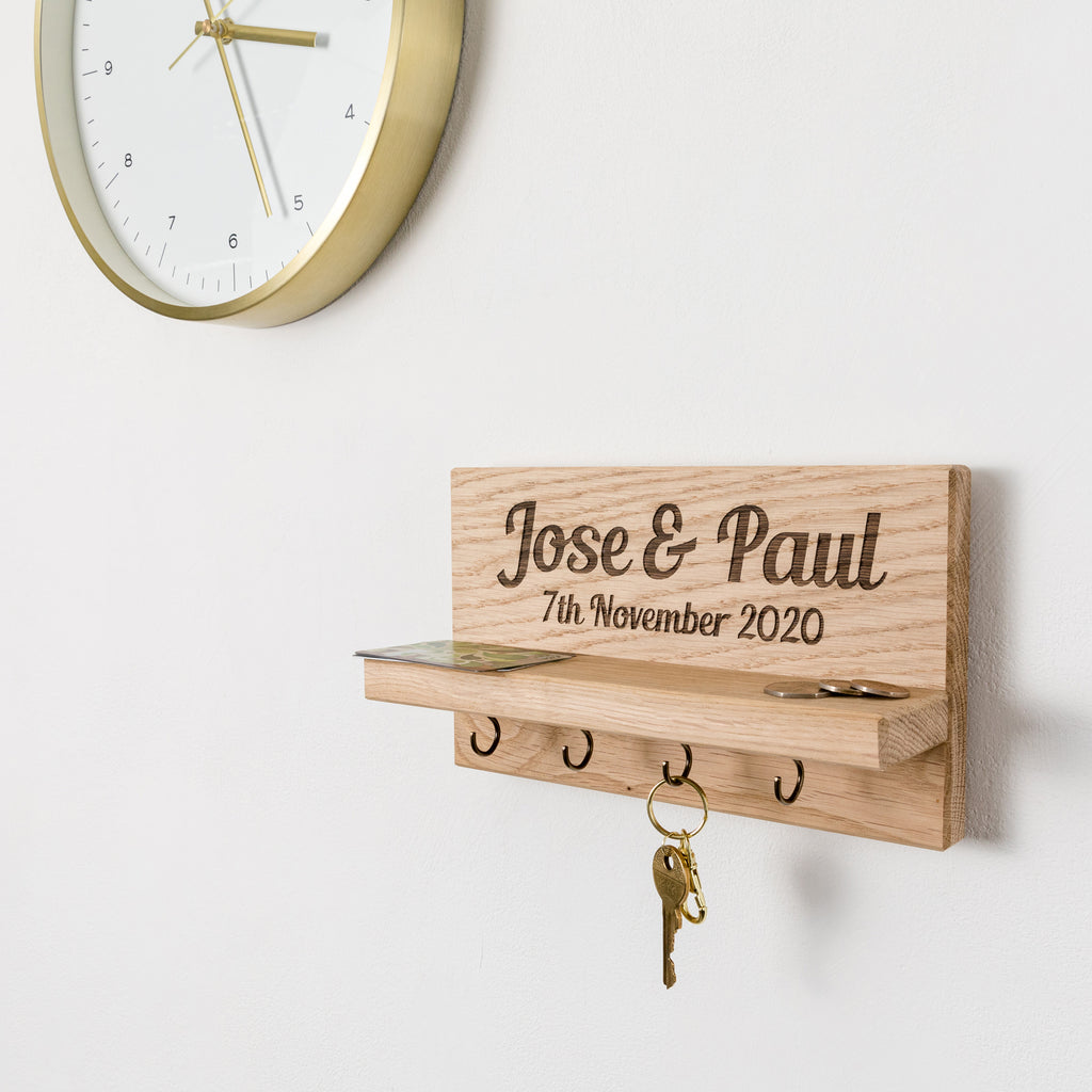 Personalised Couple's Names Key Holder