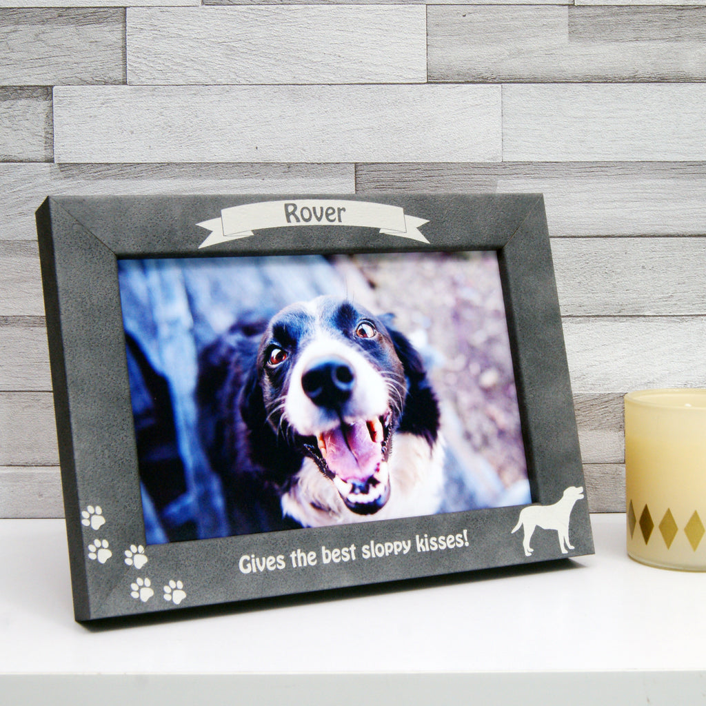 Personalised Stone-Effect Dog Photo Frame