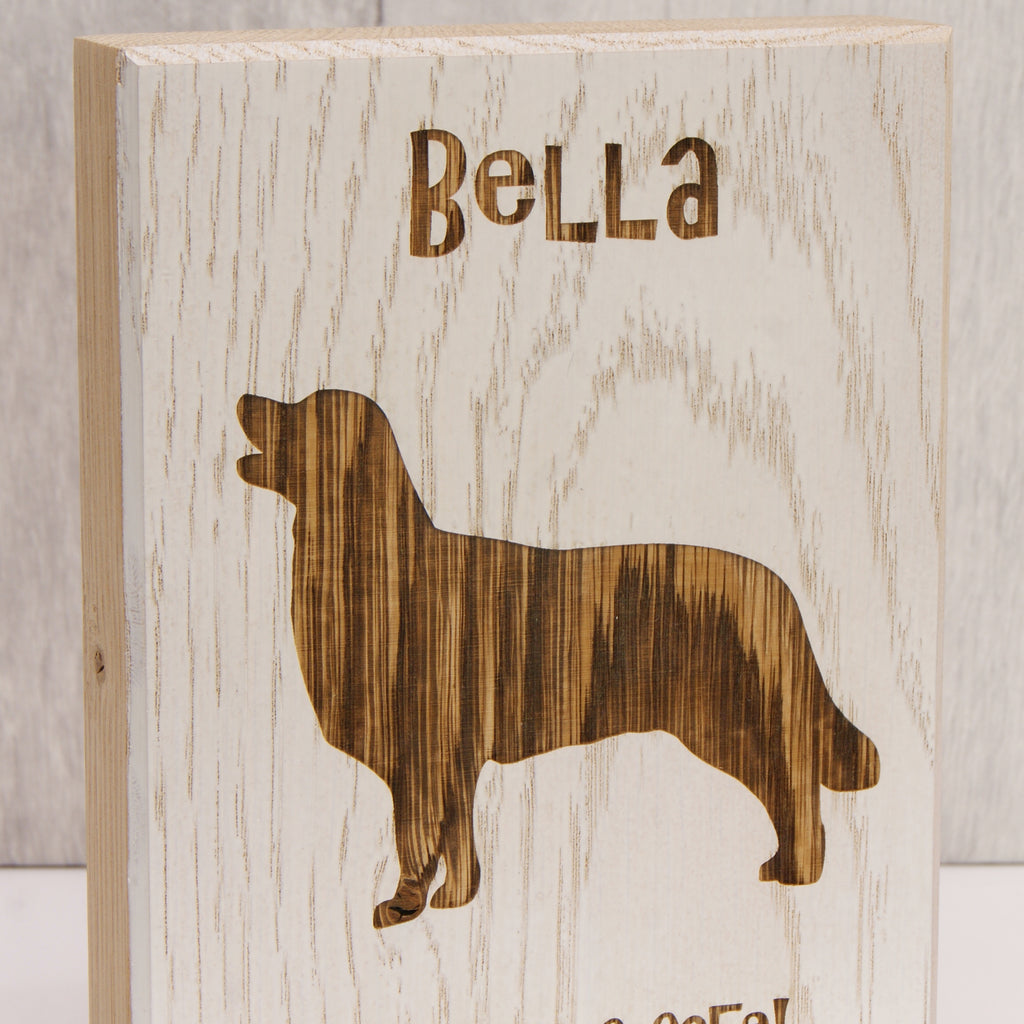 Personalised Dog Silhouette Wooden Artwork