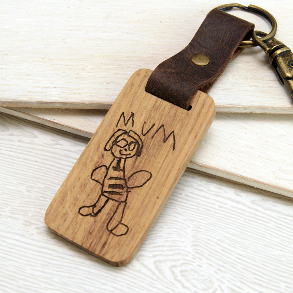 Personalised Mother's Day Child's Drawing Keyring