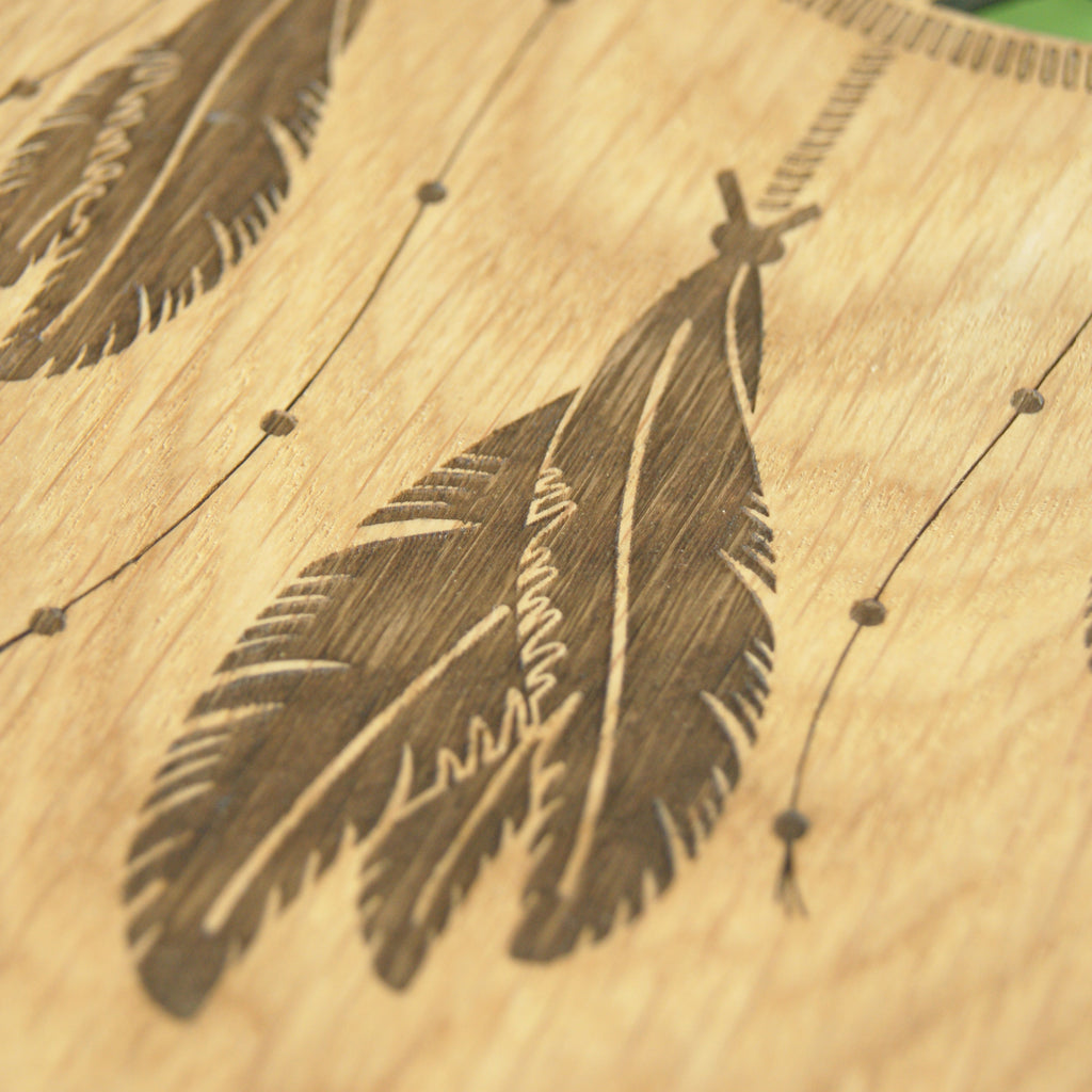 Feather Engraving Detail
