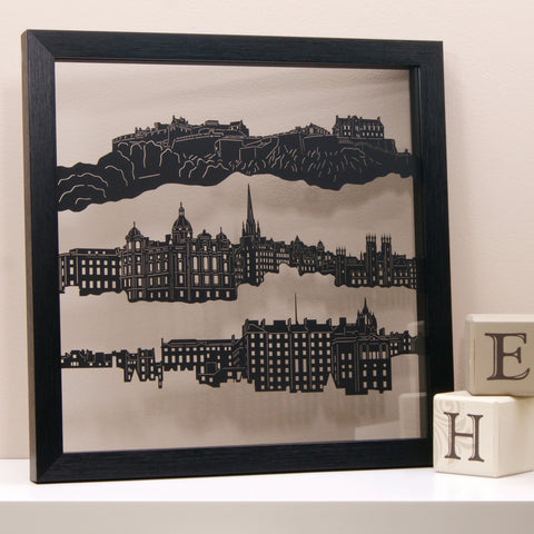 Edinburgh - The Old Town Papercut Wall Art