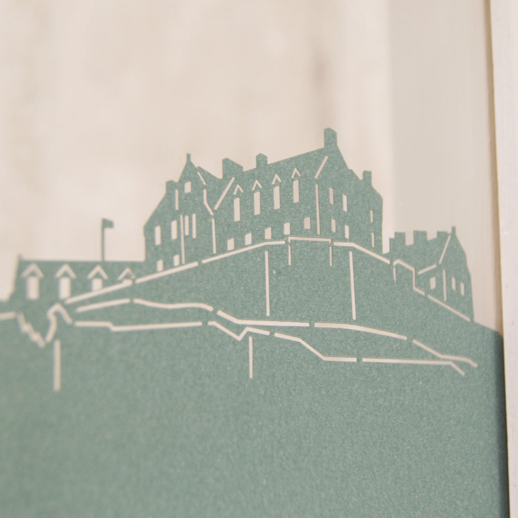 Edinburgh Castle in Pearlescent Emerald Green