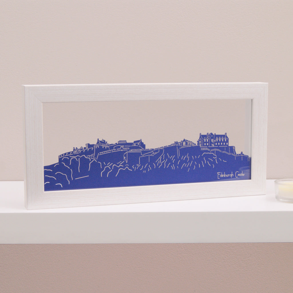 Edinburgh Castle in Matt Royal Blue