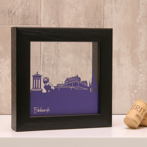 Edinburgh Landmarks in Matt Purple