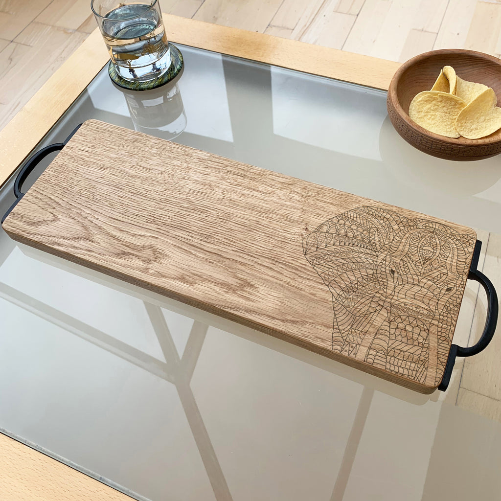 Wooden Elephant Serving Board