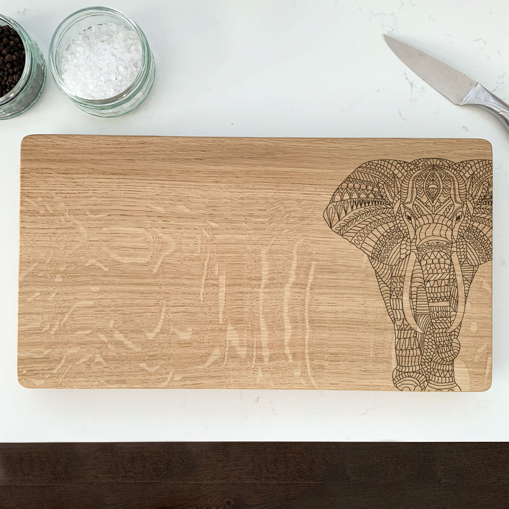 Wooden Elephant Chopping Board