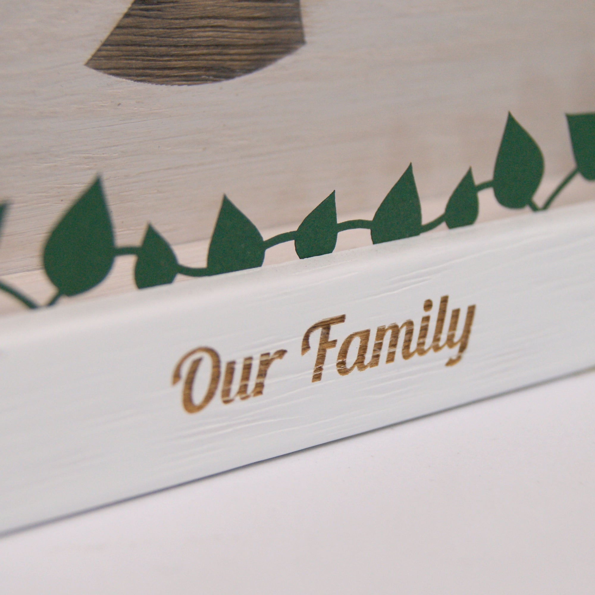 Personalised Engraved Wooden Family Tree Wall Art Urban Twist