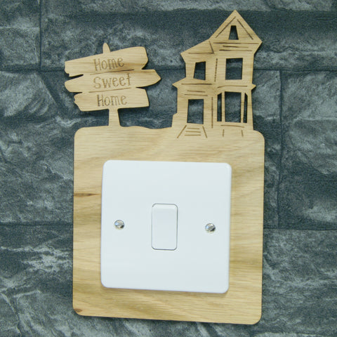 Personalised Wooden Light Switch Surround
