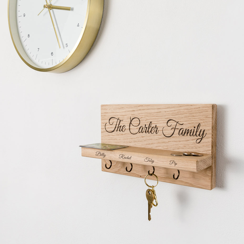 Personalised Family Name Key Holder