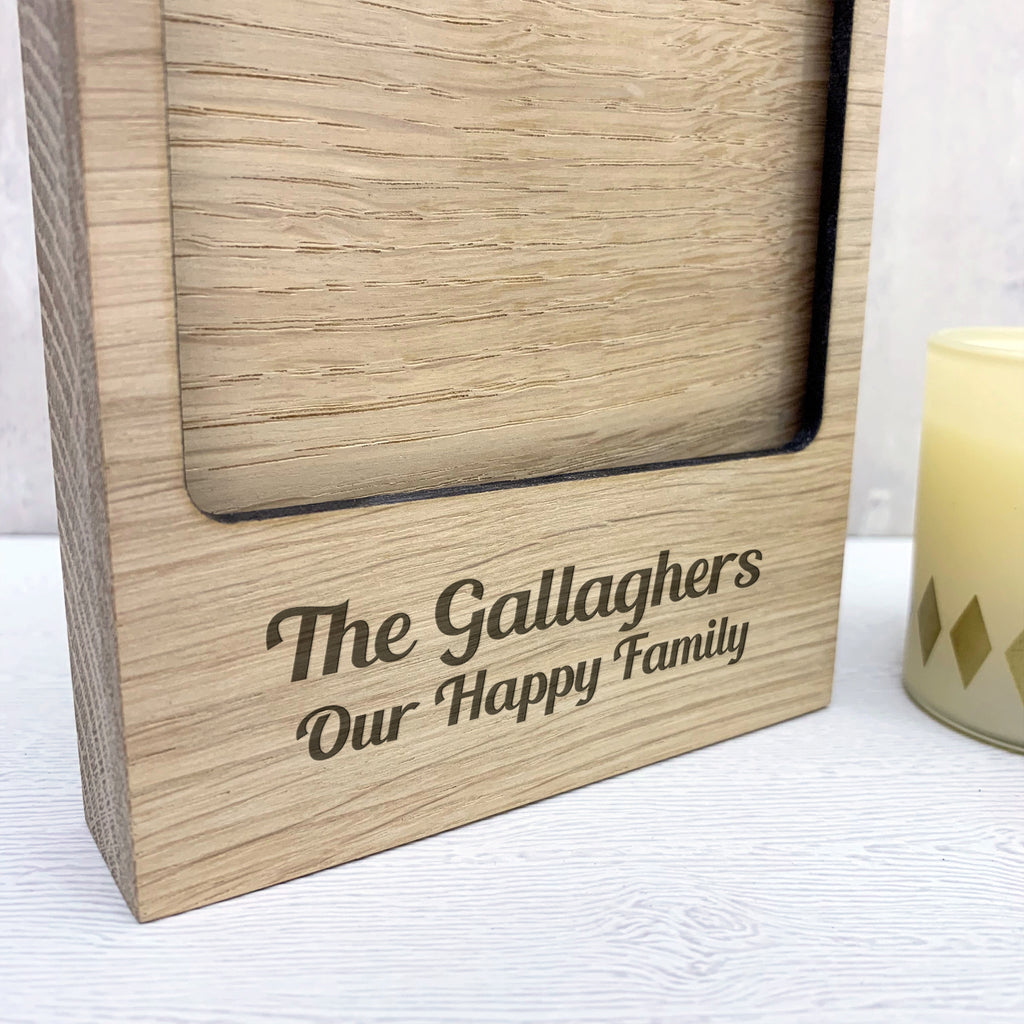 Personalised Family Name Photo Block