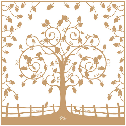 Personalised Family Tree Wall Art - Floral Floating Design