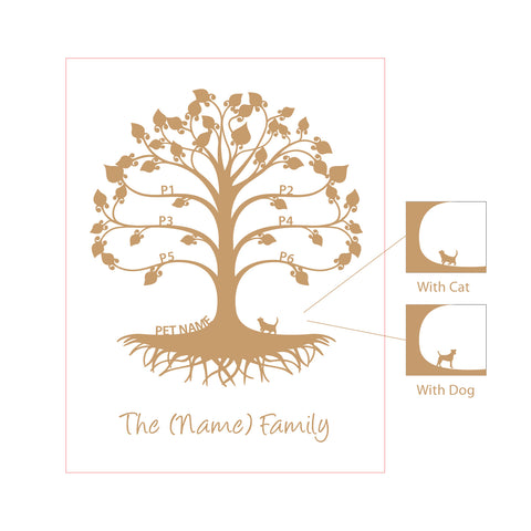 Personalised Mini Family Tree Wall Plaque
