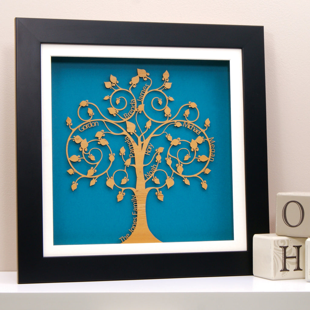 Family Tree in Turquoise