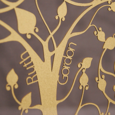 Personalised Family Tree Wall Art - Floating Design