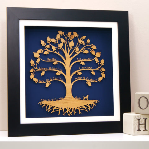 Personalised Family Tree Wall Art Traditional Design
