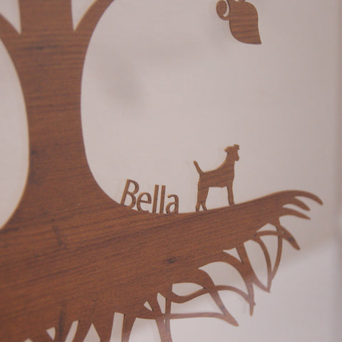 Personalised Family Tree Wall Art - Floating Traditional Design