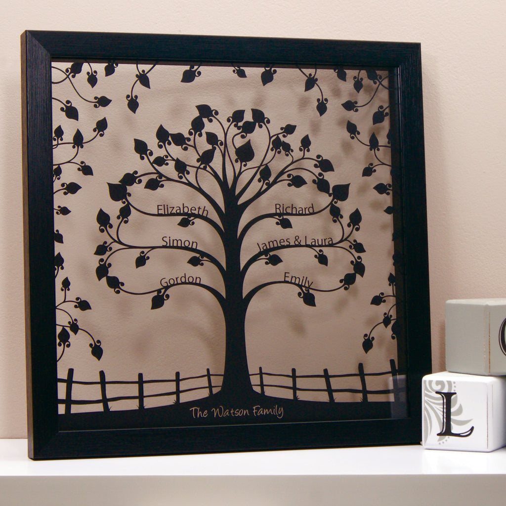 Family Tree in Matt Black