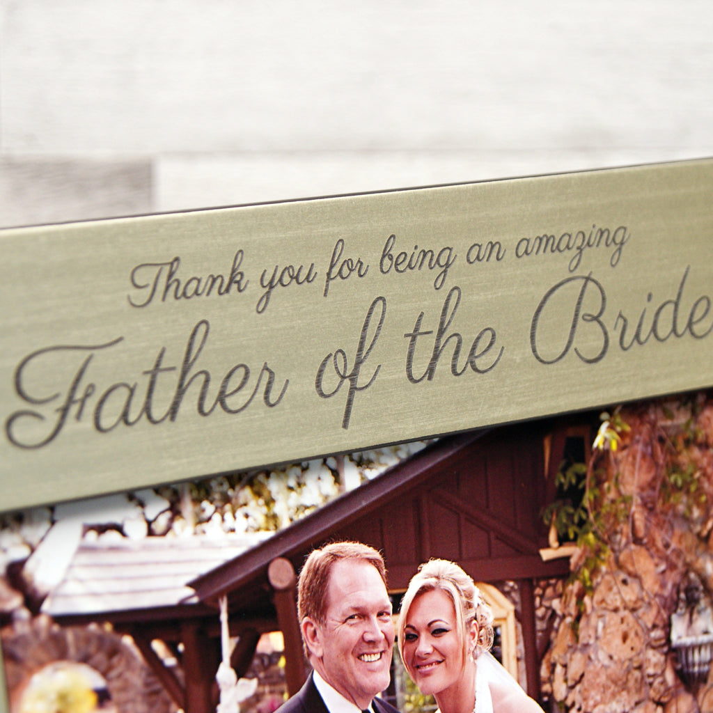 Personalised 'Father Of The Bride or Groom' Photo Frame