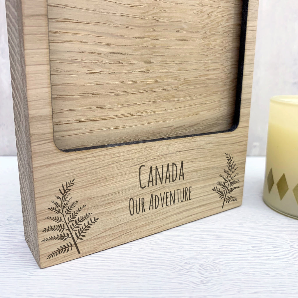 Personalised Wooden Fern Photo Block