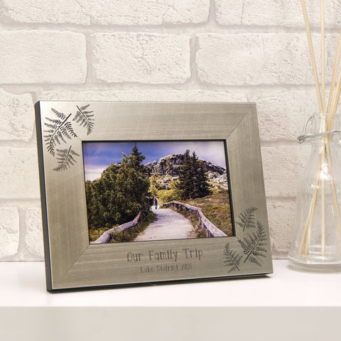 Personalised Fern Photo Frame