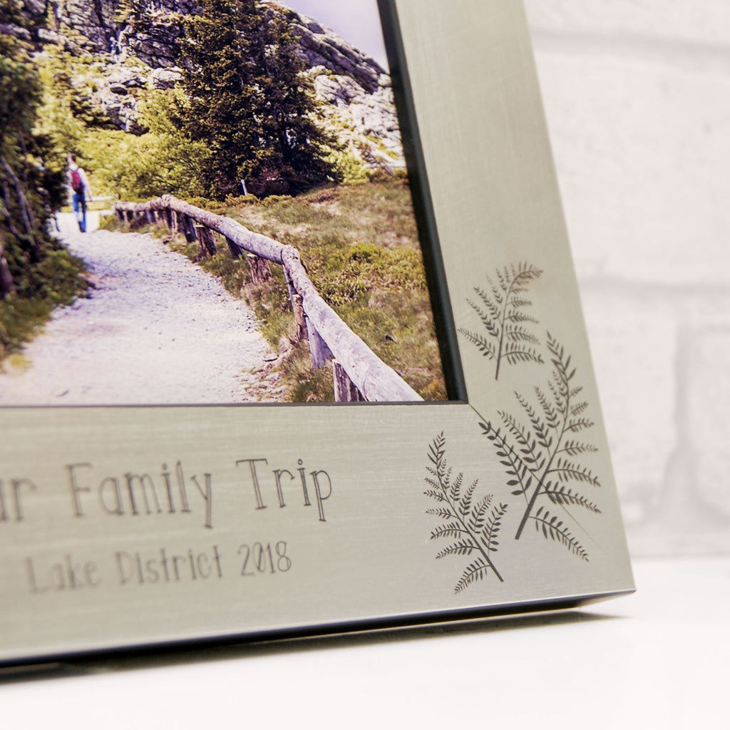 Fern Photo Frame in Champagne Silver