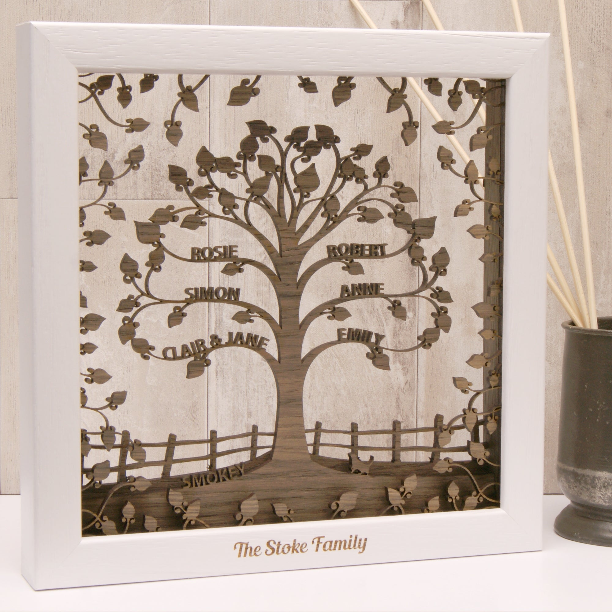 Traditional Personalised Family Tree Wall Art Urban Twist