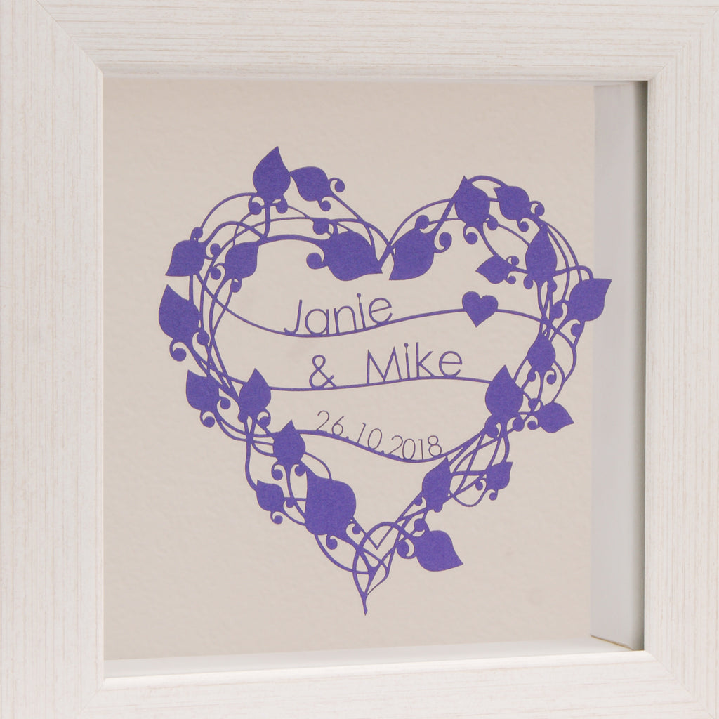 Floral Heart Mini in Matt Purple