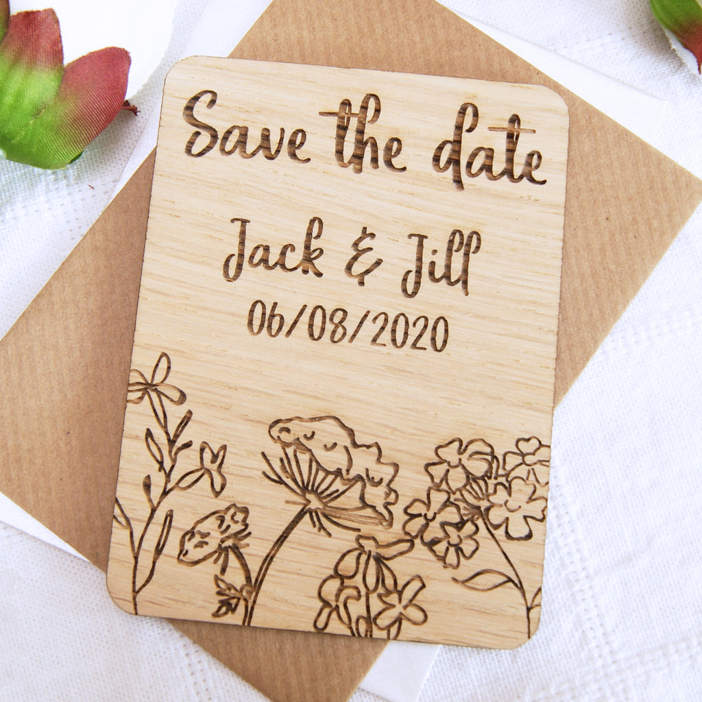 Flowers Save The Date Magnet