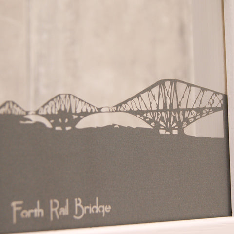 Forth Rail Bridge in Pearlescent Ionised Metal