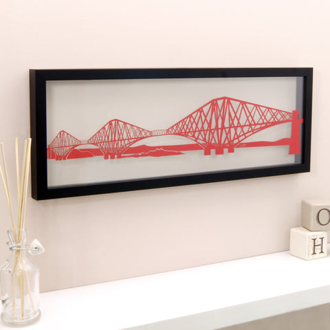 Forth Rail Bridge Papercut Wall Art