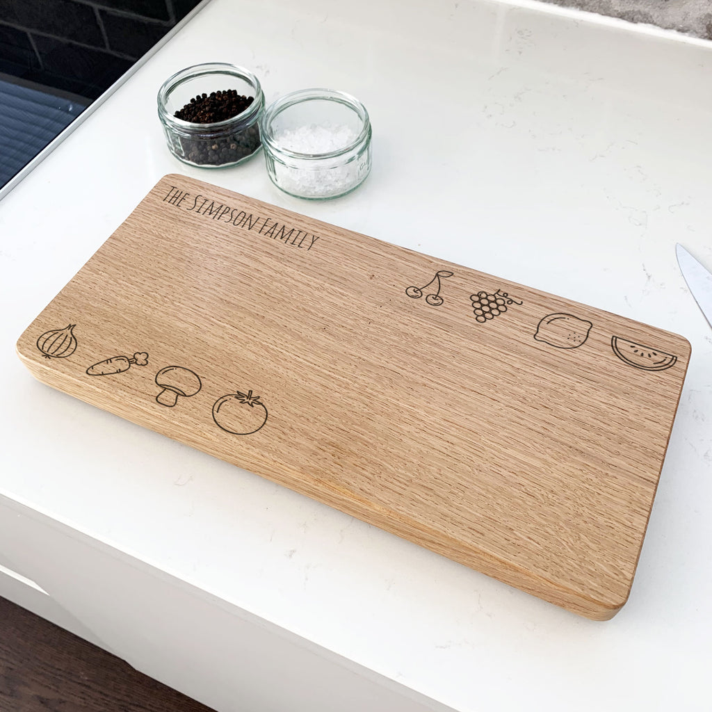 Personalised Fruit And Vegetables Chopping Board