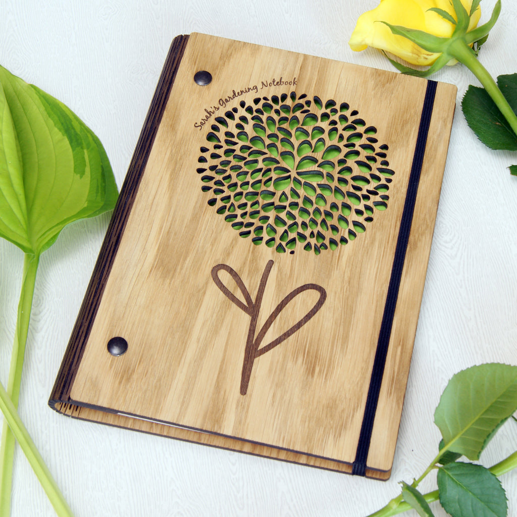 Wooden Gardening Notebook in Green