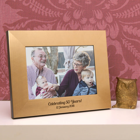 Personalised Gold 50th Anniversary Photo Frame – Urban Twist