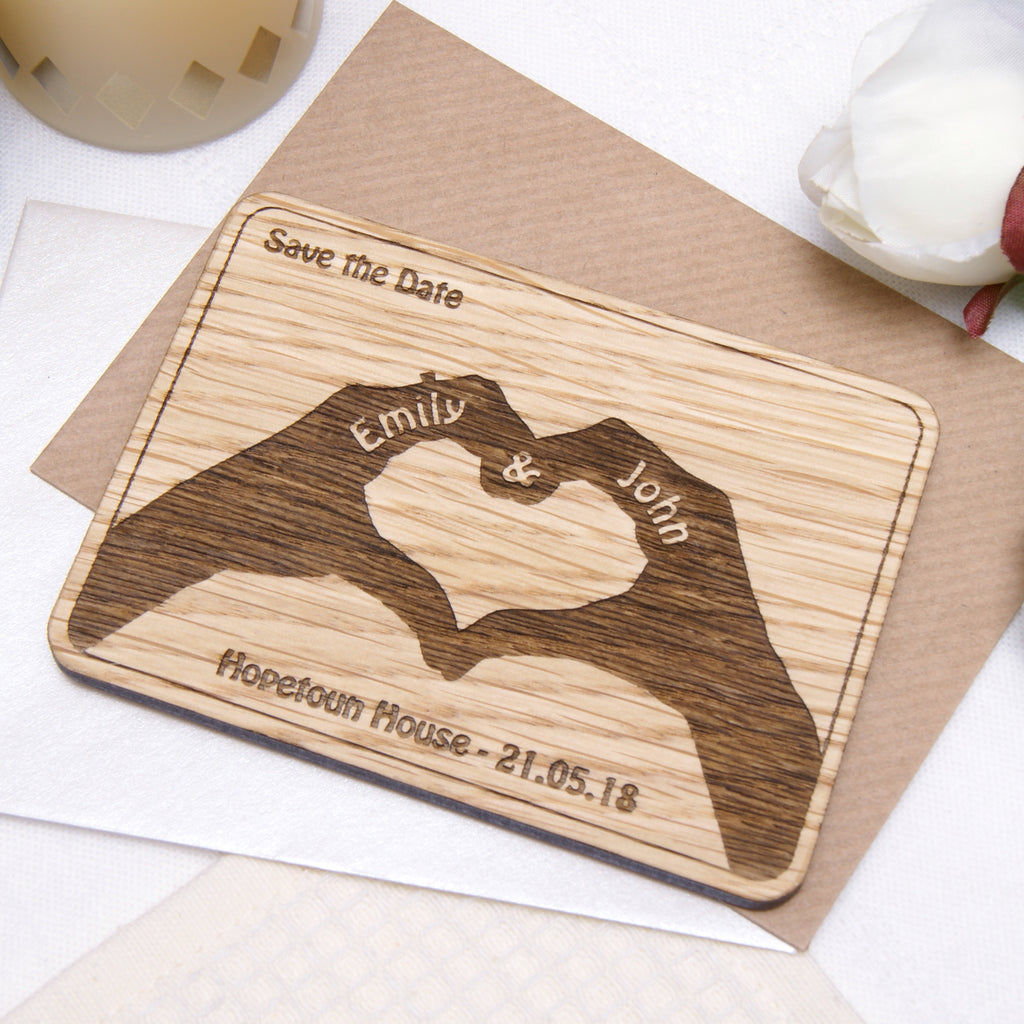Heart Hands Save the Date Magnet