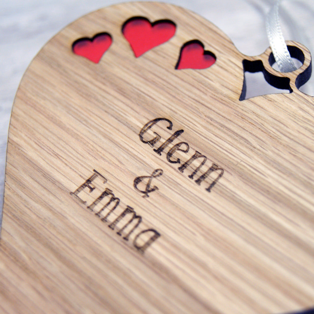 Couple's Hanging Heart Decoration