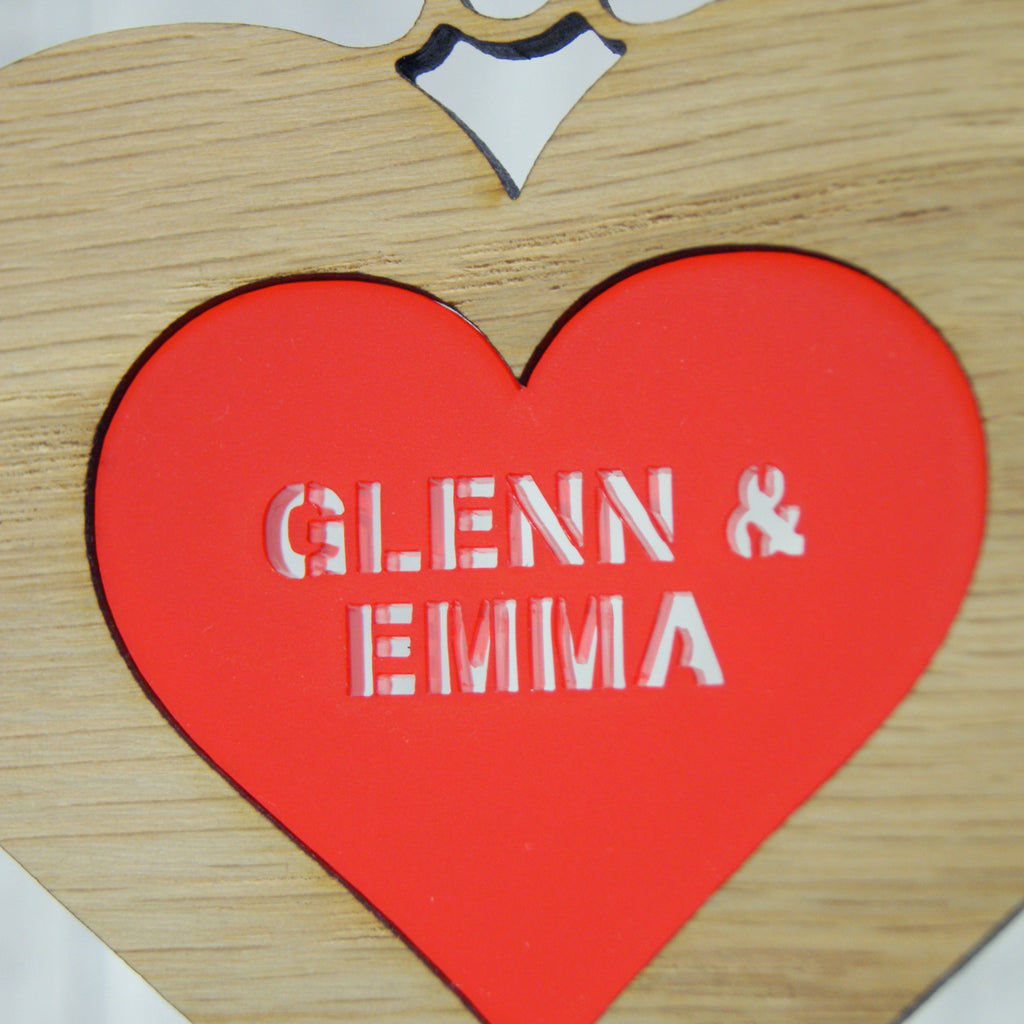 Couple's Double Heart Decoration