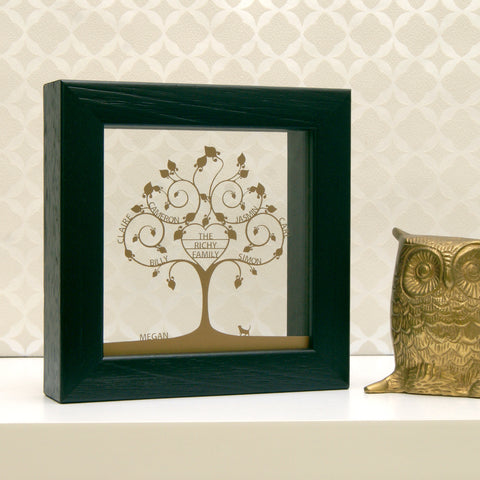 Personalised Mini Family Tree Wall Art - Heart Design
