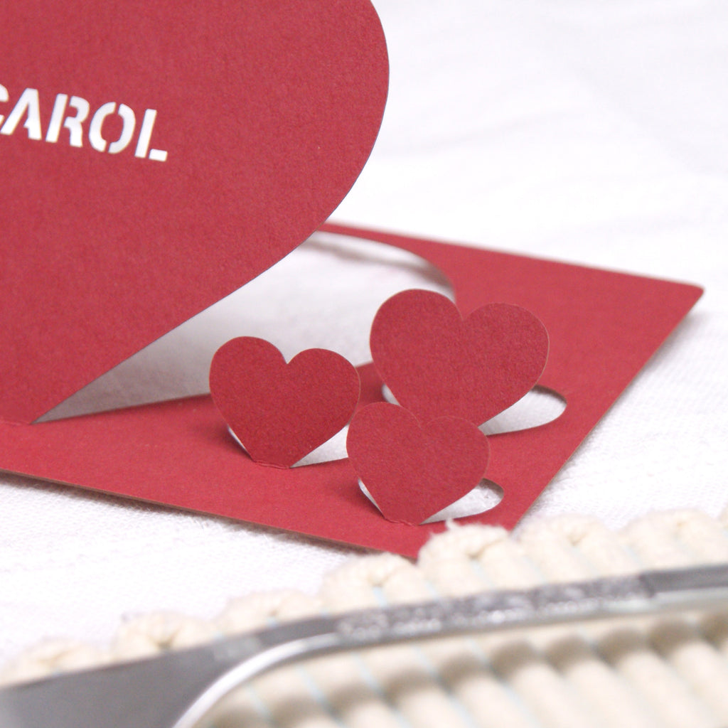 Heart Place Card in Scarlet