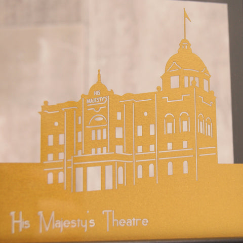 Aberdeen His Majesty's Theatre in Pearlescent Super Gold
