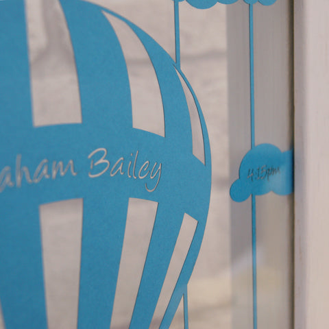 Personalised Baby Balloon Wall Art