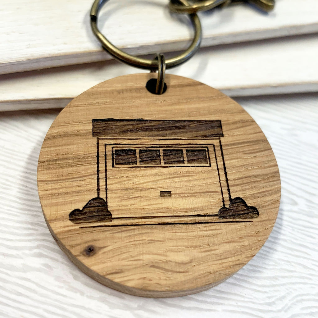 Personalised Garage Keys Keyring