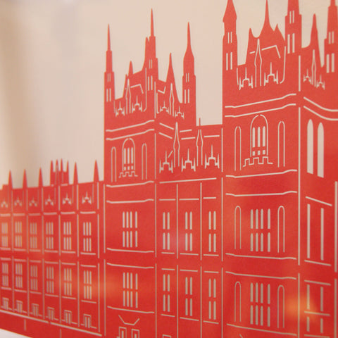 London - Houses of Parliament Papercut Wall Art