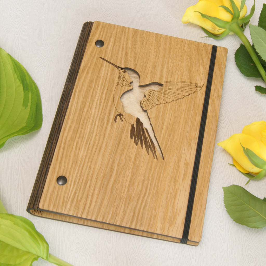 Hummingbird Notebook in Ivory