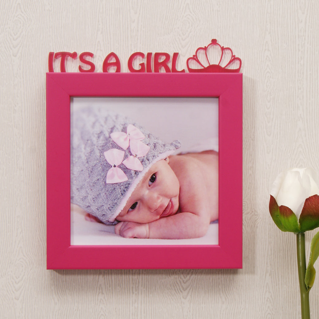 'It's A Girl!' Mini Photo Frame