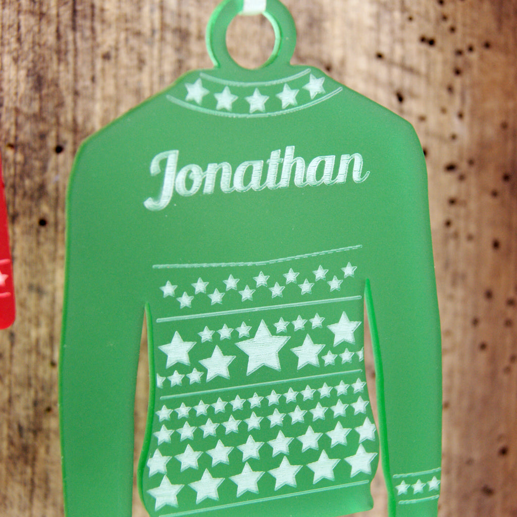 Personalised Star Jumper Christmas Tree Decoration