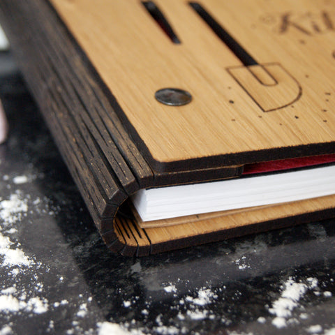 Wooden Recipe Notebook