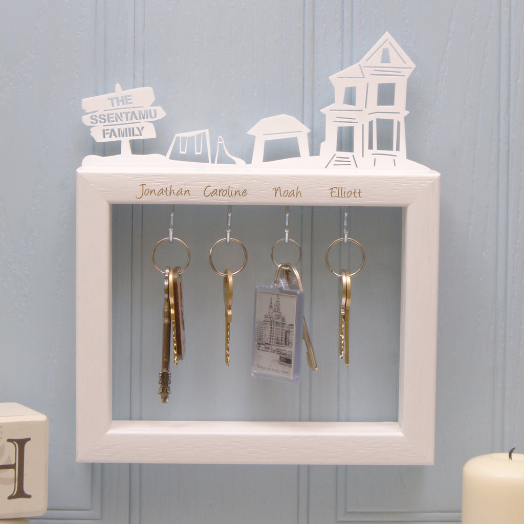 Personalised Large Family Key Holder